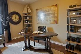 traditional home office ideas. Nautical Theme Traditional Home Office Decorating Ideas Curve Wooden Table Simple Rectangular Bookshelf As An Interesting Corner Cabinet Options A