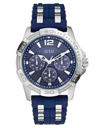 guess mens sport multi function watch in blue for men lyst gallery