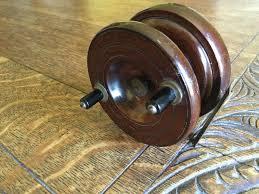 vintage nottingham effect wooden fly fishing reel