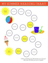 Summer Reading Chart And Reward System For Kids School