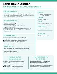 Objective In Resume For Fresh Graduate Free For Download Sample