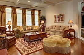 ... Living Room, French Country Living Room With Wooden Table And Carpet  And Lamp And Curtain ...