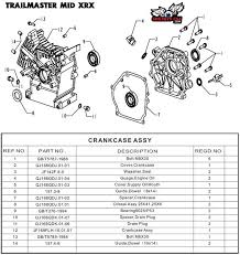 gx200 engine crankcase parts for trailmaster mini xrx xrs gokart displaying products 1 15 of 15 results