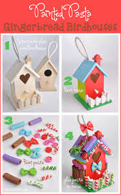 how to make a painted pasta gingerbread house clubchicacircle start with a plain wood birdhouse