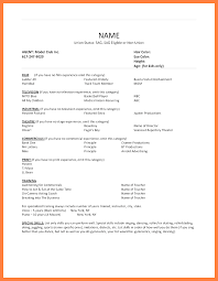 Acting Resume No Experience 24 Acting Resume No Experience Statement Synonym 21