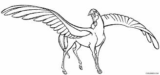 Pegasus Coloring Pages Flying Pegasus Coloring Page Free Printable