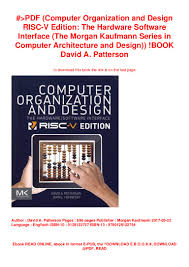 Computer Architecture And Design Patterson Pdf Computer Organization And Design Risc V Edition The