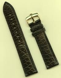 details about genuine rolex gold buckle gen alligator strap band black 19mm leather lined