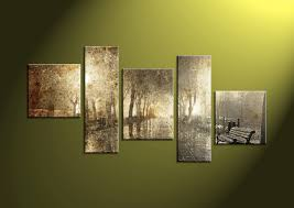 5 piece canvas wall landscape art scenery pictures scenry wall art scenery on sepia canvas wall art with 5 piece brown park sepia group canvas