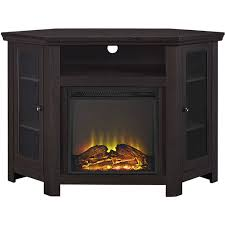 corner fireplace tv stand media console for tvs up to 55 multiple finishes com