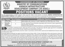Office Boy And Security Guard Job In Ministry Of Communication Karachi