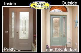 single front doorsSingle front door with glass insert partial size  The Glass Door