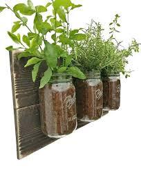 hanging kitchen herb garden herb planter reclaimed wood herb planter dark wood hanging planter indoor herb