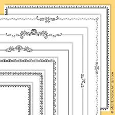 Free Page Borders For Microsoft Word Amazing 48x48 Scrapbook Page Frame Featuring Page Border Digital Etsy