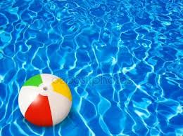 pool water with beach ball. Beach Ball On Water Pool With