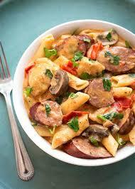 instant pot creamy cajun pasta with sausage