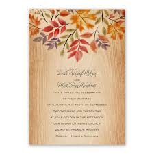 Fall Invitation Rustic Fall Invitation With Free Response Postcard