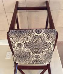rustic print seat cushion cover kitchen chair pad neutral beiges w black traditional print