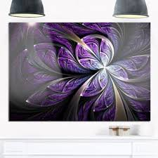 glittering purple fractal flower large floral glossy metal wall art on purple metal wall art flower with purple metal art gallery shop our best home goods deals online at