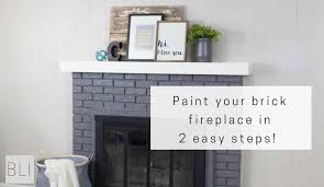 paint your brick fireplace in two easy steps the quick and easy way to paint