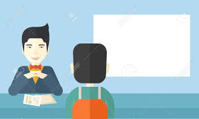 A Smiling Chinese Human Resource Manager Interviewed The Applicant