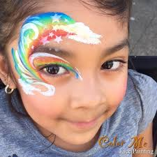 rainbow face painting color me face painting vanessa mendoza