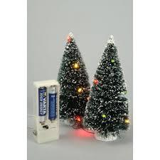 Lumineo Pair of 10 LED miniature Christmas trees