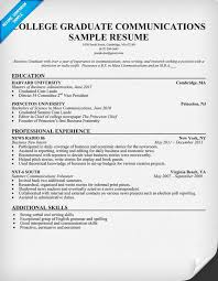 College Graduate Resume Template 82 Images Blue College