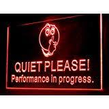 Quiet Please Meeting In Progress Sign Amazon Com Meeting In Progress Led Light Sign Home Kitchen