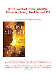 Ocean Light Nalini Singh Read Online Free Pdf Download Ocean Light Psy Changeling Trinity Band 2