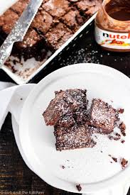 Nutella Topped Brownies Fudgy Nutella Brownies Girl And The Kitchen
