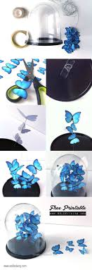 Cool Turquoise Room Decor Ideas - DIY Butterfly Decor - Fun Aqua Decorating  Look