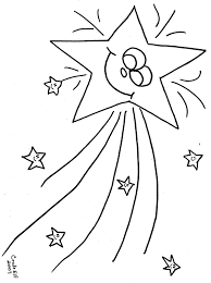 Small Picture Shooting Star Free Printable coloring page