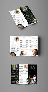 Trifold Salad Menu Brochure Template Salad Menu Free Menu