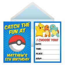 Pokemon Birthday Invitation Card Template Free Printable Invite High