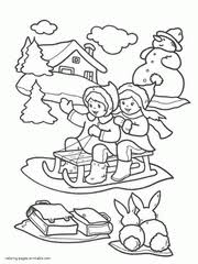 Small Picture Winter coloring pages for kids