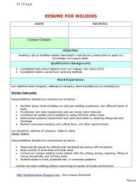 Welding Resume Apprenticeship Samples Apprentice Welder Cover Letter