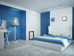 Colorful Bedroom Wall Designs Bedroom In Bright Cornflower Blue Bedrooms Rooms Color Minimalist