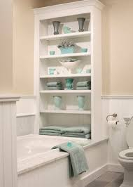 Simple Built In Bathroom Wall Storage By Normandy Remodeling To Creativity Design