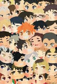 Haikyuu digital wallpaper, haikyuu!!, multi colored, art and craft. Haikyuu Chibi Uploaded By Lisi On We Heart It