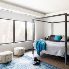 contemporary bedroom ideas. Mid-sized Trendy Master Dark Wood Floor And Brown Bedroom Photo In Boston With Contemporary Ideas