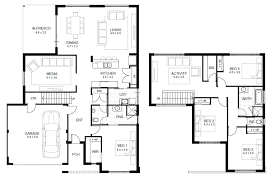 two y residential house floor plan with elevation modern story plans master bedroom on first rectangular