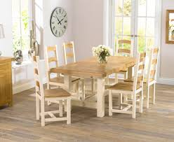 cool cream dining table and chairs marlow oak u0026 cream