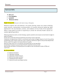 A mechanical engineer resume template gives the design of the Great Resumes  Fast Mechanical Engineer Resume