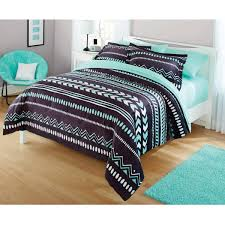 6 of 7 comforter set twin size tribal chevron bedding very soft grey mint green white