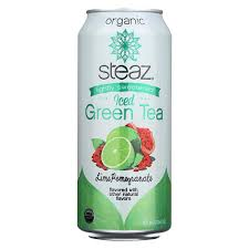 Steaz Lightly Sweetened Green Tea Amazon Com Steaz Lightly Sweetened Green Tea Lime