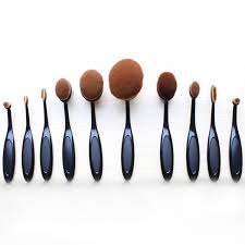 anastasia oval brush set. oval brush 10 piece set , - my make-up set, make anastasia