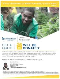 Liberty Mutual Quote Gorgeous Liberty Mutual Quote For Donation To Marcus P Blakemore