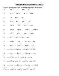 balancing chemical equations worksheet gcse tessshlo