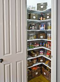 78 great stupendous kitchen small corner pantry closet design with white shelf and rattan wickers also door organizers clever ideas to improve your food p